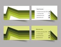 Grüne Visitenkarte zwei Lizenzfreies Stockfoto