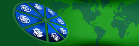 Grüne Vorsatzgraphiken Lizenzfreies Stockbild