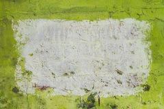 Grüne Wand mit Formhintergrund Stockfoto