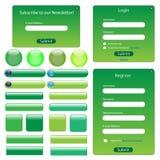 Grüne Web-Schablone Stockfotografie