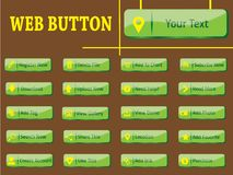 Grüne Web-Taste Stockfotos