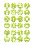 Grüne Web-Zeichen lizenzfreie abbildung
