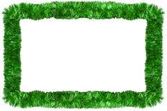Grüne Weihnachtsgirlande Lizenzfreies Stockfoto