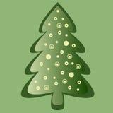 Grüne Weihnachtskarte Lizenzfreie Abbildung