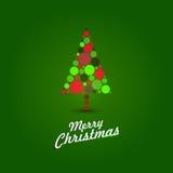 Grüne Weihnachtskarte Stockbild
