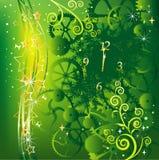 Grüne Weihnachtskarte Stockfotografie