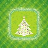 Grüne Weihnachtskarte, Vektor Lizenzfreie Stockbilder