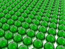 Grüne Weihnachtskugeln Stock Abbildung