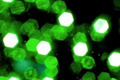 Grüne Weihnachtsleuchten Stockbilder