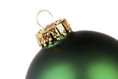 Grüne Weihnachtsverzierung Stockbild