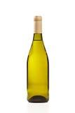 Grüne Weinflasche getrennt Lizenzfreies Stockfoto