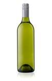 Grüne Weinflasche trennte Lizenzfreies Stockbild