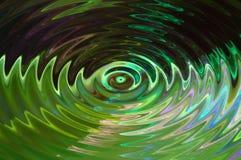 Grüne Welle Stockfotografie