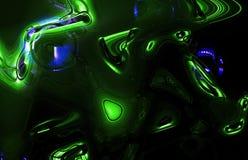 Grüne Welle Lizenzfreies Stockfoto