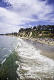Grüne Welle an der Paradies-Bucht Stockbilder