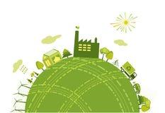 Grüne Welt lizenzfreie abbildung