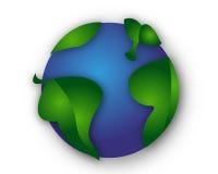 Grüne Weltblätter getrennt Lizenzfreie Stockbilder