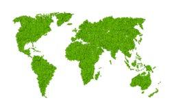 Grüne Weltkarte Lizenzfreie Stockfotos