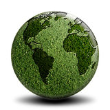 Grüne Weltseite A Stockbild