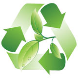 Grüne Wiederverwertung stock abbildung