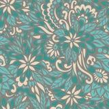 Grüne Wiese Nahtloses dekoratives Muster Stockfotografie