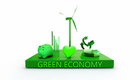 Grüne Wirtschaftlichkeit Stockfotos