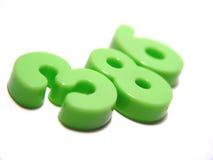 Grüne Zahlen stockfotos