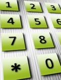 Grüne Zahlen Lizenzfreie Stockfotos