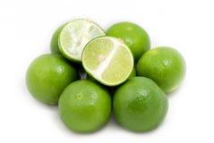 Grüne Zitrone in der Gruppe Lizenzfreie Stockfotos