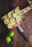 Grüne Zitronen Lizenzfreie Stockfotos