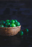 Grüne Zitronen Stockfoto