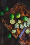 Grüne Zitronen Lizenzfreie Stockbilder