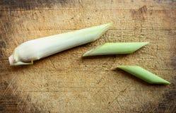 Grüne Zitronengrasscheiben Lizenzfreie Stockfotos
