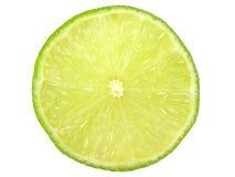 Grüne Zitronescheibe Stockfotografie