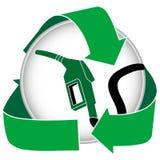 Grünen Sie Benzin-Ikone Stockbild