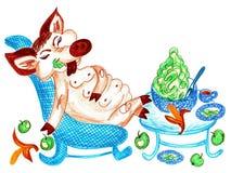 Grünen Sie Diät Stockfotos