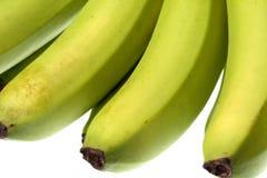 Grünen Sie die getrennten Bananen Lizenzfreies Stockbild