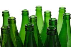 Grünen Sie Flaschen stockfoto