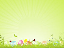 Grünen Sie ruhigen Ostern-Hintergrund Lizenzfreie Stockfotografie