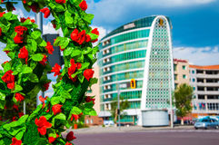 Grünen Sie Stadt Lizenzfreie Stockbilder