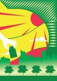 Grünen Sie Stadt vektor abbildung