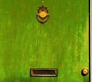 Grünen Sie Tür Stockfotografie