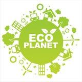 Grüner ökologischer Planet lizenzfreie abbildung