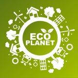 Grüner ökologischer Planet stock abbildung