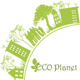 Grüner ökologischer Planet Lizenzfreie Stockbilder