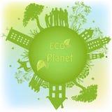 Grüner ökologischer Planet Lizenzfreies Stockfoto