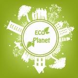 Grüner ökologischer Planet Stockbild