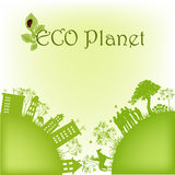 Grüner ökologischer Planet Lizenzfreies Stockbild