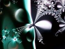 Grüner abstrakter Blumen-Stern Stockfoto