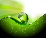 Grüner abstrakter Fantasiehintergrund Stockfoto
